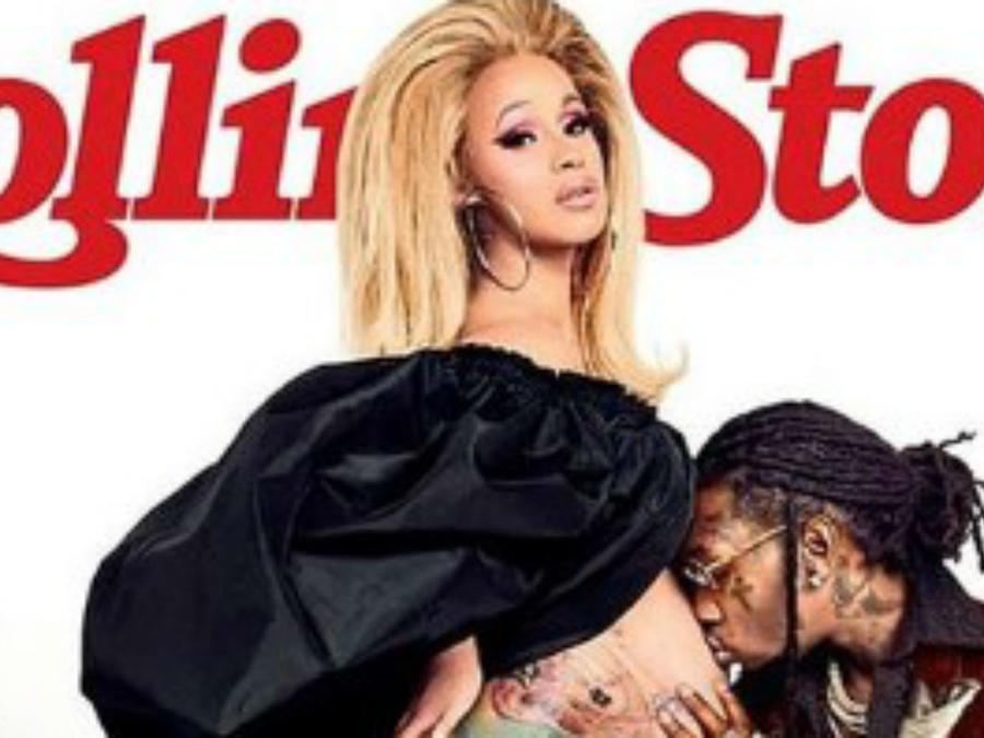 "Cardi B y Offset en la portada dde ""Rolling Stones"""