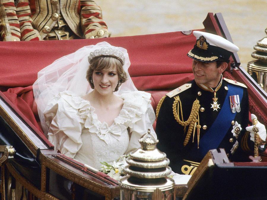 Princesa Diana en el día de su boda