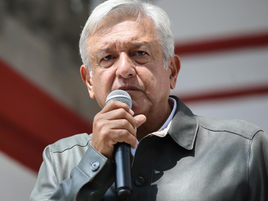 El futuro presidente de México, Andrés Manuel López Obrador, en una intervención hoy