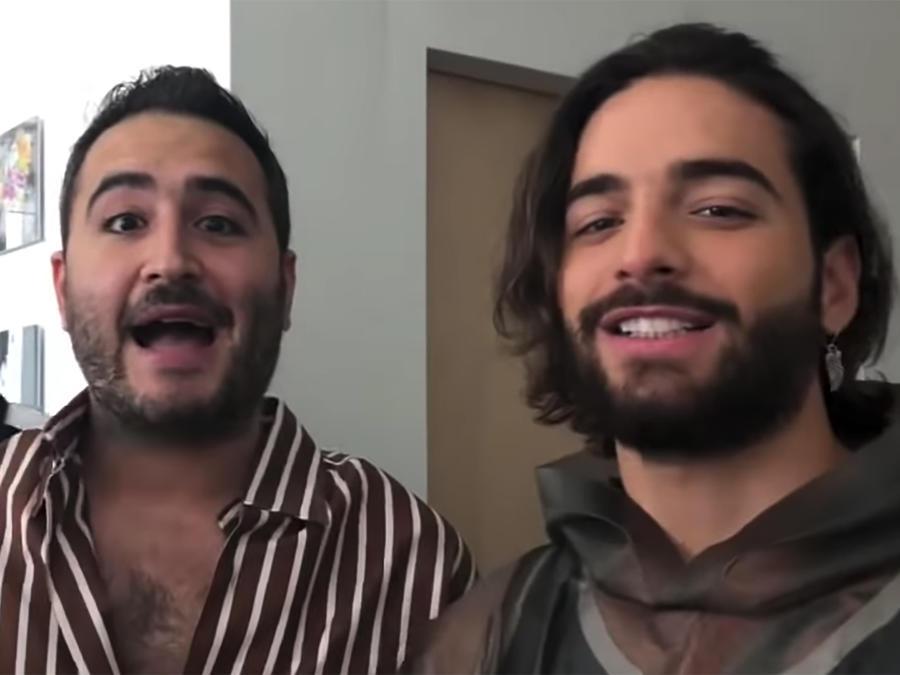 Maluma y Reik anunciando su nuevo sencillo