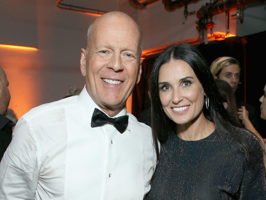 Bruce Willis con Demi Moore, julio 2018
