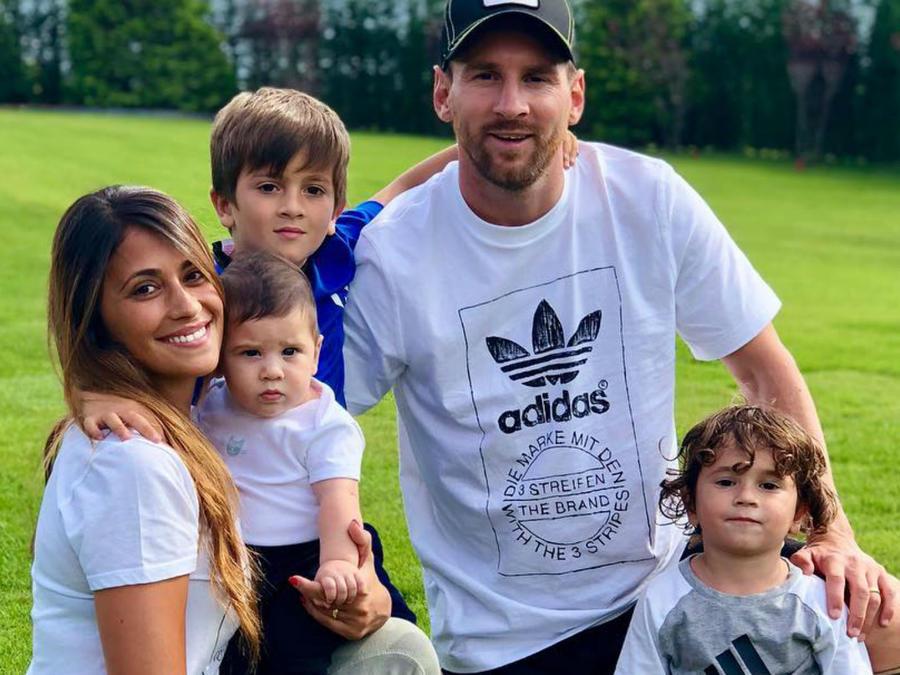 Messi con su familia