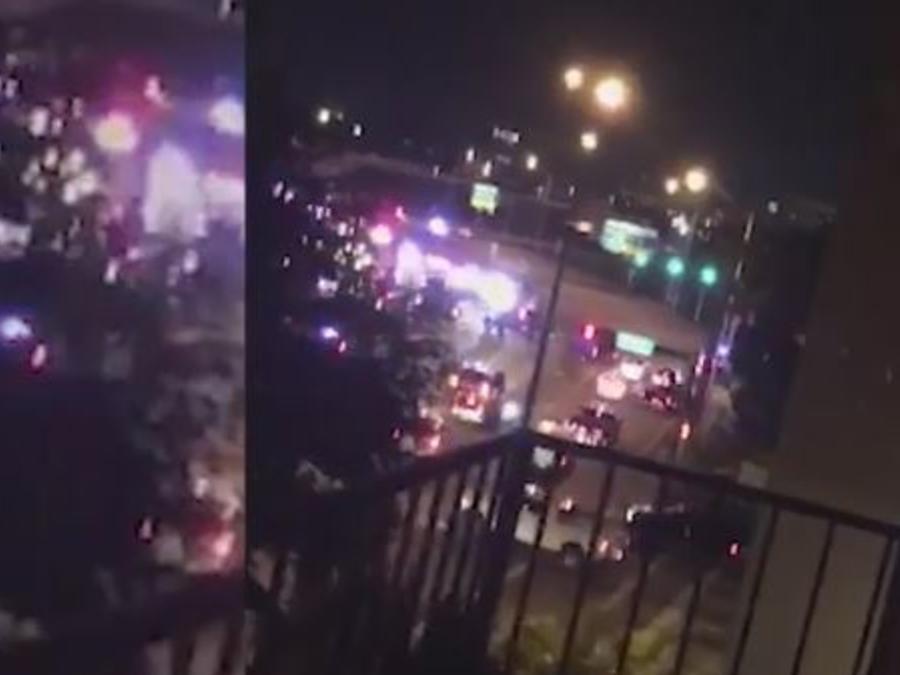 Captura del vídeo del tiroteo cerca del Aeropuerto Internacional de Miami.