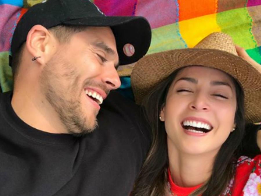 Carmen Villalobos con Sebastián Caicedo