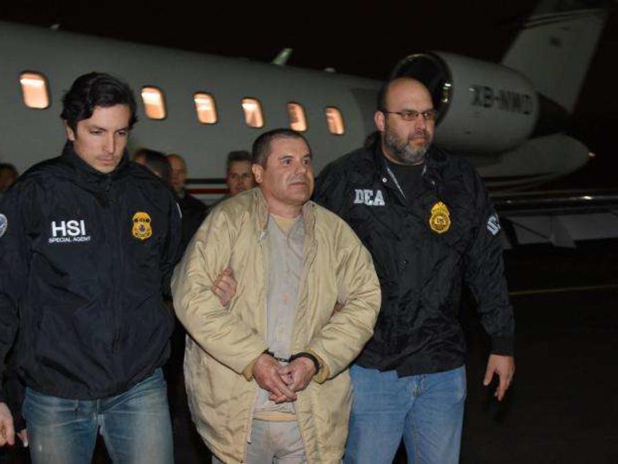 El Chapo en su traslado a EEUU