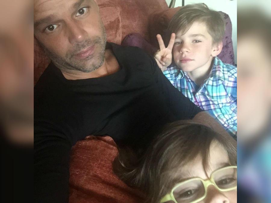 Ricky Martin con sus hijos