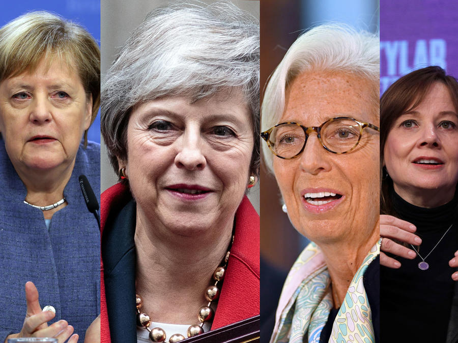 Angela Merkel, Theresa May, Christine Lagarde, Mary Barra, Abigail Johnson