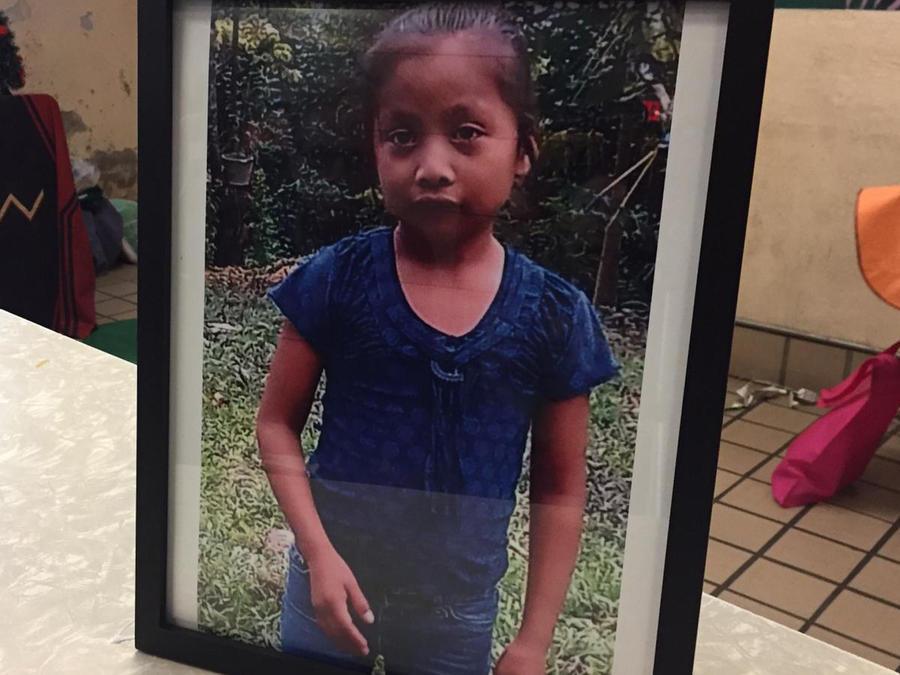 Foto de la niña Jakelin, quien murió bajo custodia de la Patrulla Fronteriza