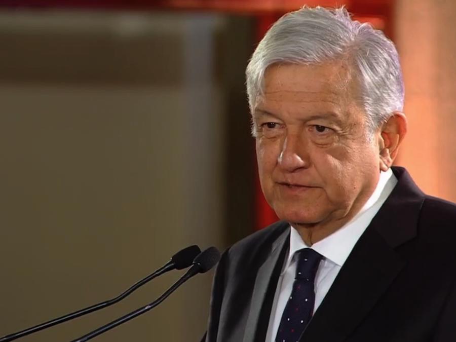 El Presidente López Obrador durante su transmisión en vivo el lunes 7 de enero de 2019