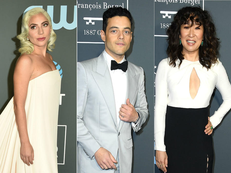 Lady Gaga, Rami Malek, Sandra Oh, Sterling K. Brown