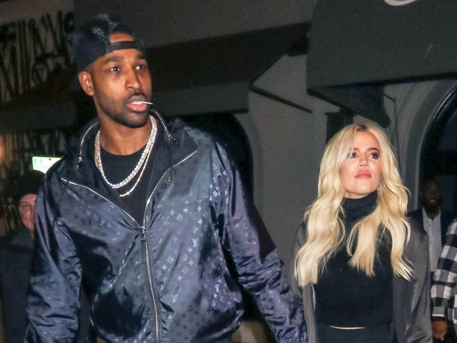 Tristan Thompson con Khloé Kardashian, enero de 2019