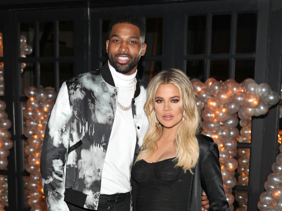 Tristan Thompson con Khloé Kardashian, marzo de 2018