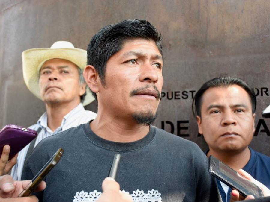 Fotografía de archivo del indígena náhuatl, dirigente comunitario en el municipio de Amilcingo, en el estado de Morelos (México),  Samir Flores, uno de los principales líderes opositores al proyecto de una termoeléctrica en esta zona.