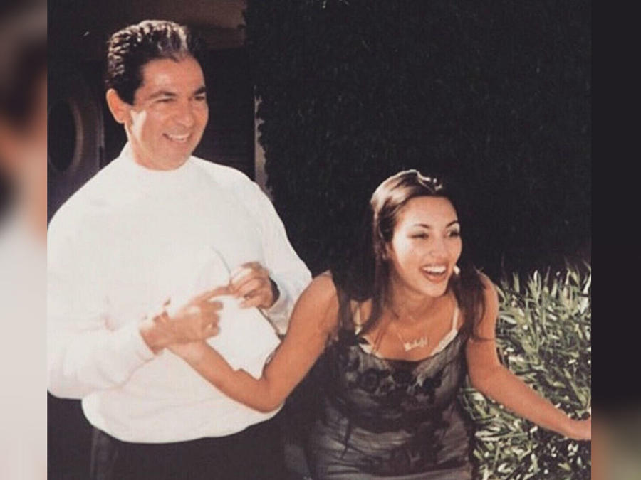 Robert Kardashian y su hija Kim