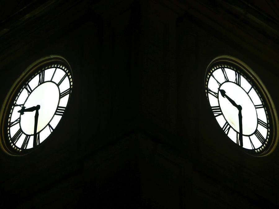 Un reloj en una imagen de archivo