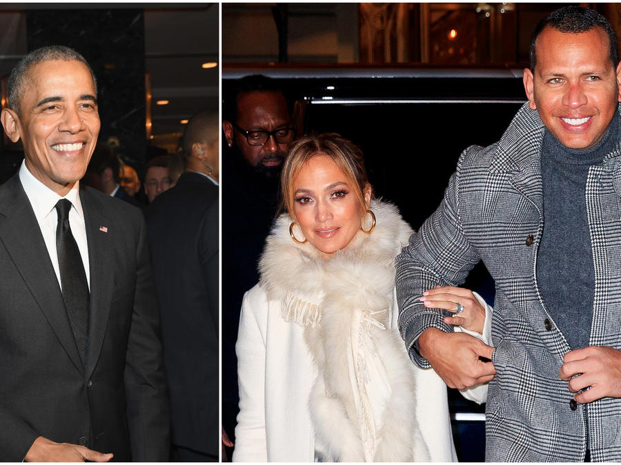 Obama y Jennifer Lopez