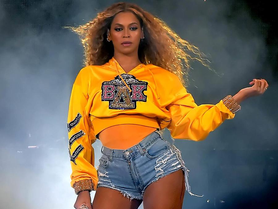 Beyoncé en su actuación en Coachella 2018.