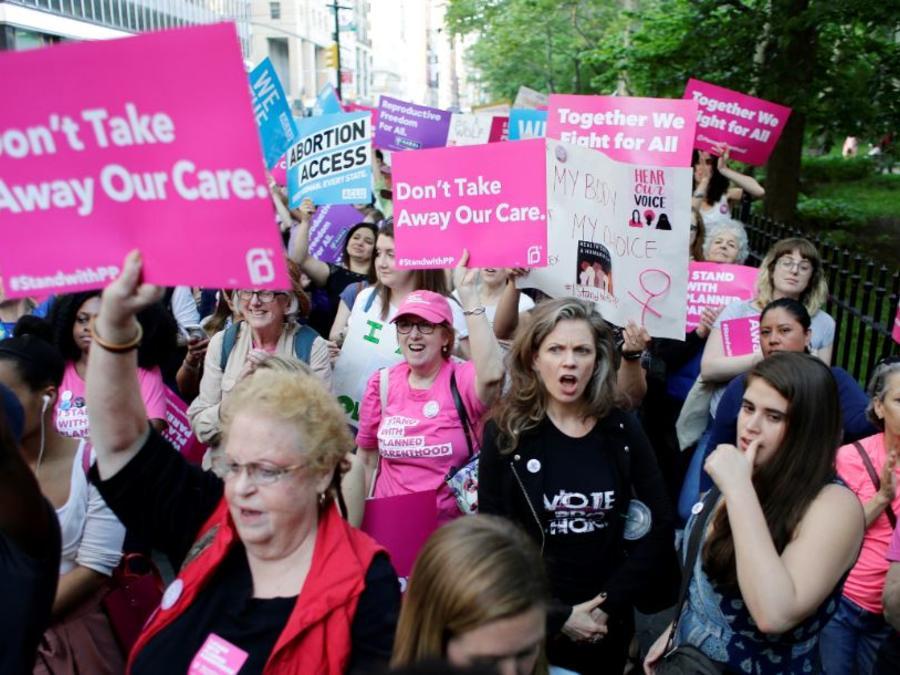Partidarias de Planned Parenthood en un concentración el pasado mayo en Nueva York.