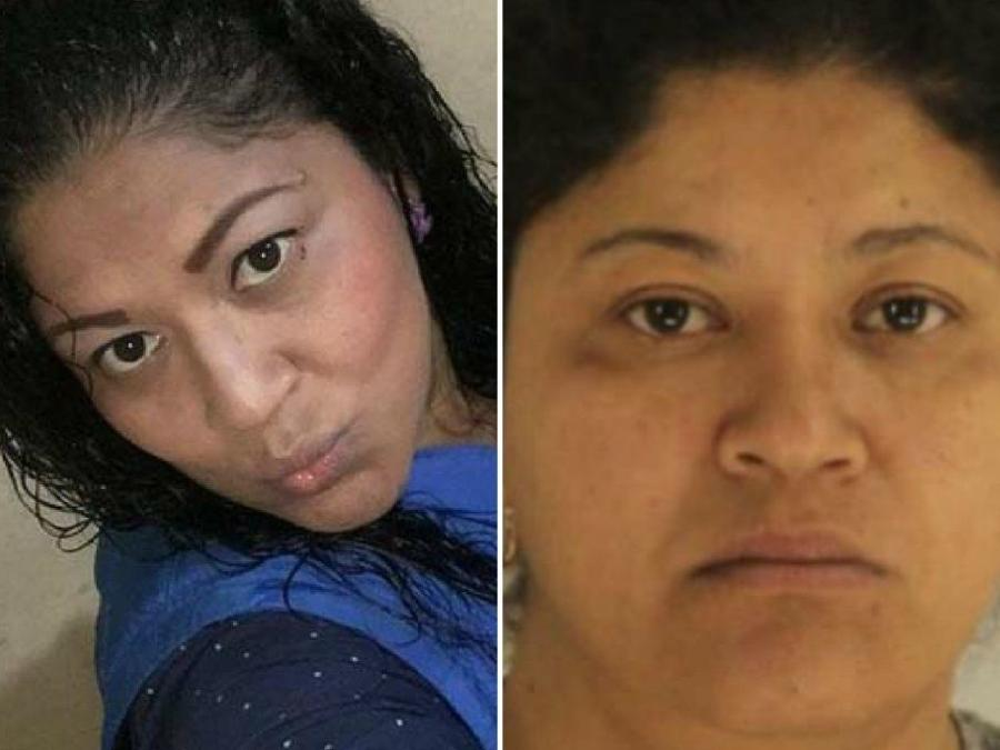 Lady Frijoles antes y después del arresto en Dallas, Texas