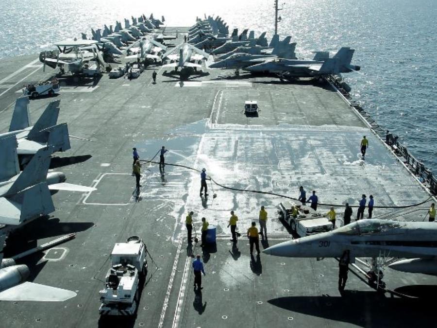 Una imagen de archivo del portaviones USS Abraham Lincoln