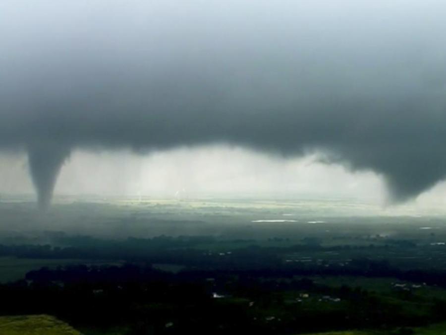 Imagen del sistema de tormentas que pasó por las Llanuras del Sur (Oklahoma) este lunes 20 de mayo de 2019