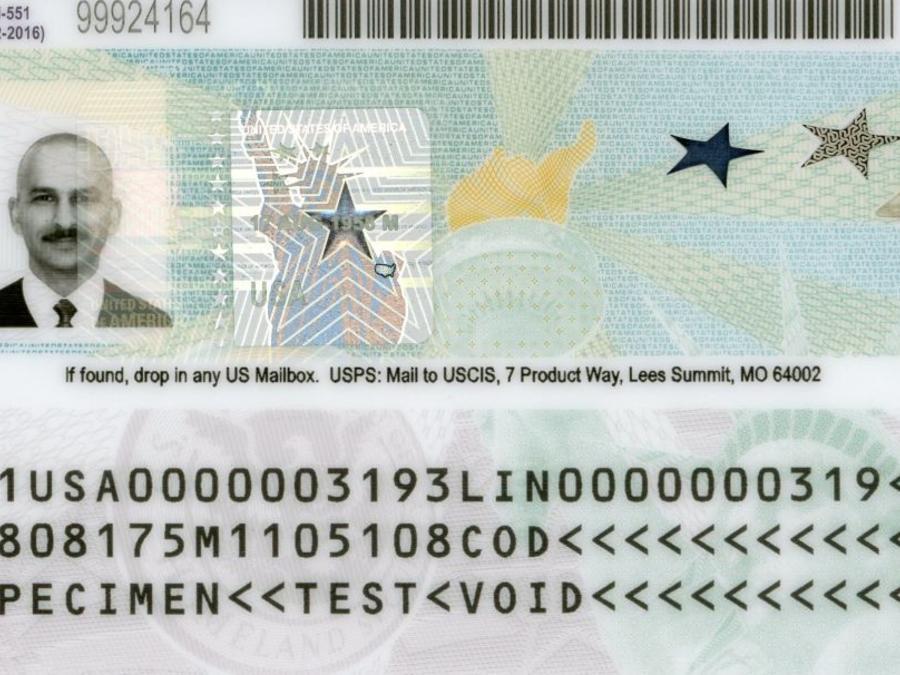 Green card o Tarjeta de Residente Permanente