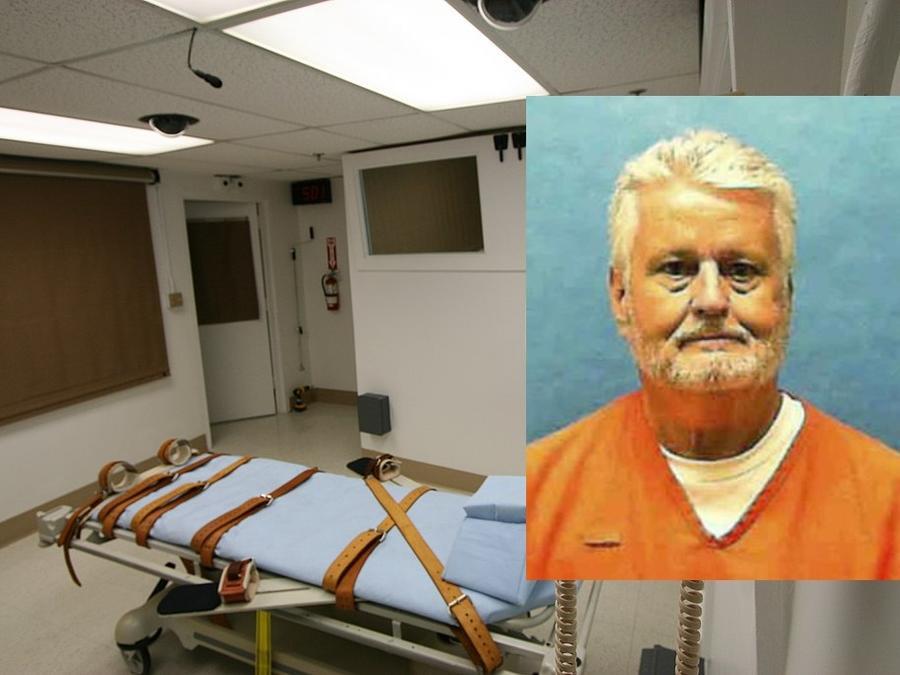 El ejecutado Bobby Joe Long y la cámara donde se aplica la inyección letal en la prisión estatal de Florida.