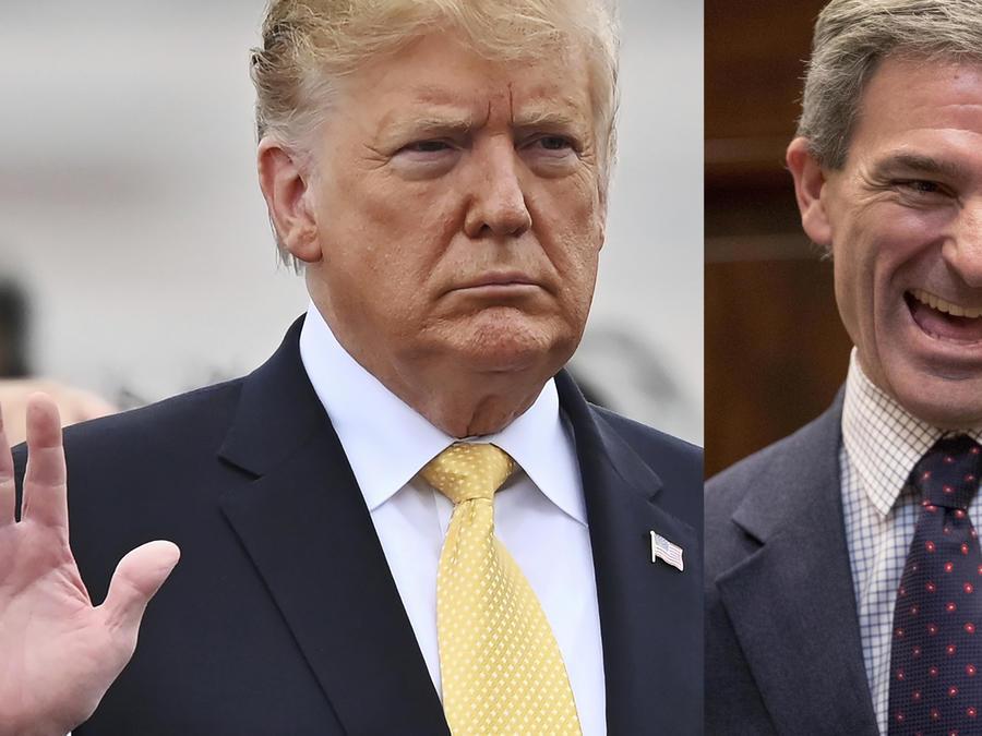 Imágenes de archivo de Trump (izquierda) yCuccinelli.