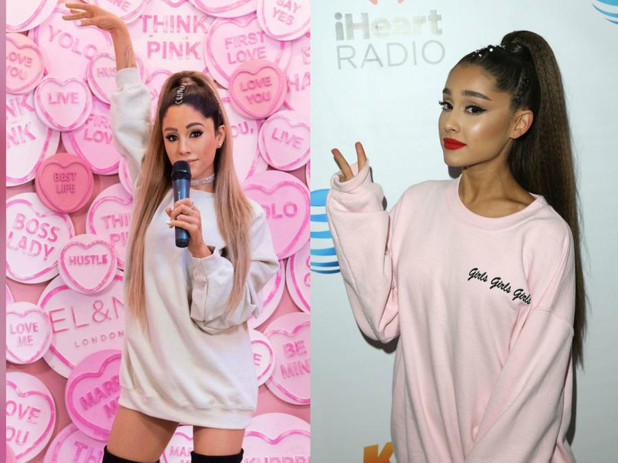 Figura de cera de Ariana Grande vs. Ariana Grande