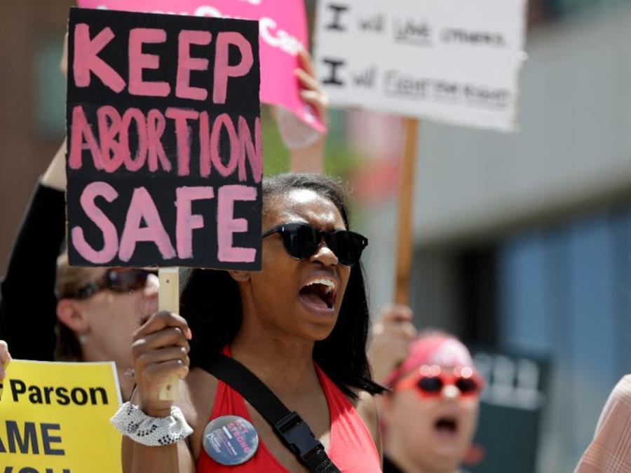 Partidarias del aborto en una protesta el pasado mayo en St. Louis (Misuri).