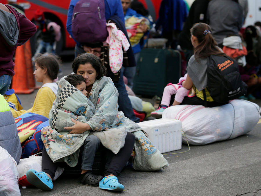 Migrantes venezolanos en Perú