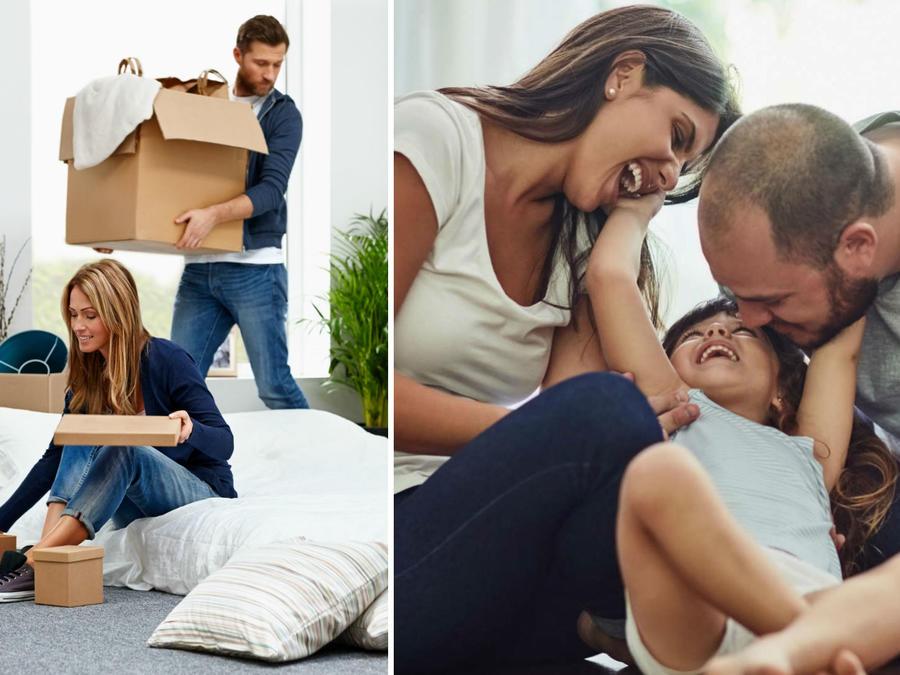 Pareja viviendo juntos