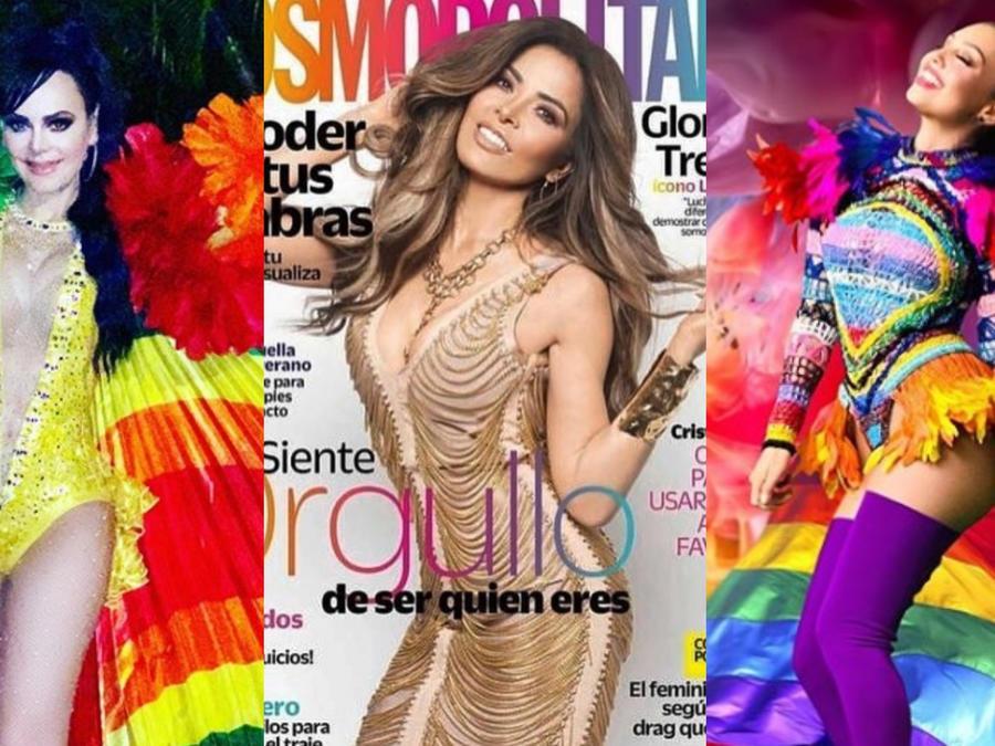 Maribel Guardia, Gloria Trevi y Thalía celebrando el mes del orgullo LGBTQ