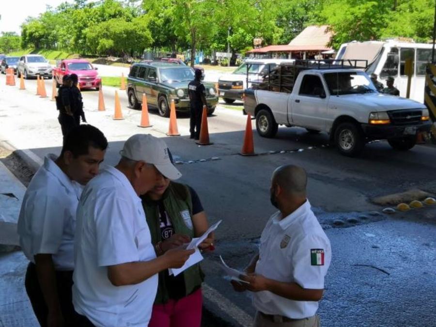 Puntos de revisión e instalaciones del Instituto Nacional de Migración mexicano en Chiapas.