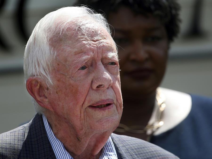 Imagen de archivo del expresidente Jimmy Carter en un evento en Georgia en septiembre de 2018.