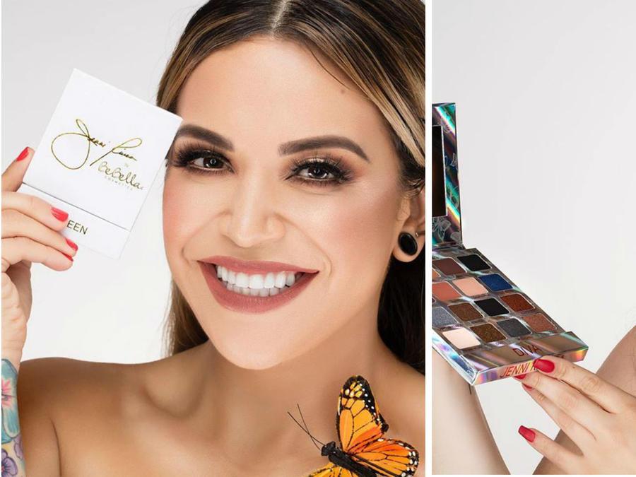 Jenicka y Jacquie Rivera presentando la nueva línea de maquillaje de Jenni RIvera