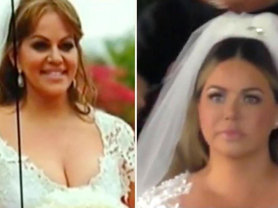 Vestido novia Chiquis y  Jenni Rivera