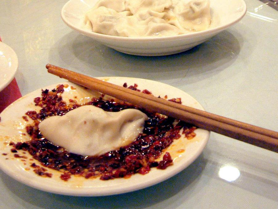 Comida china en una imagen de archivo