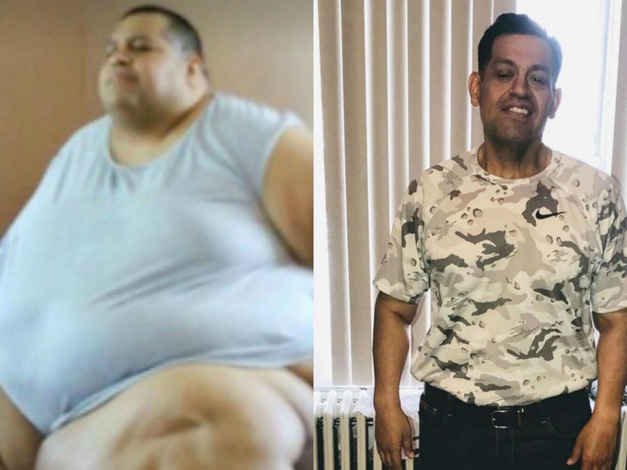 Rafael Zuniga antes y después de bajar de peso