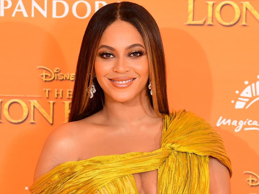Beyoncé en la premier de Disney's The Lion King en julio de 2019