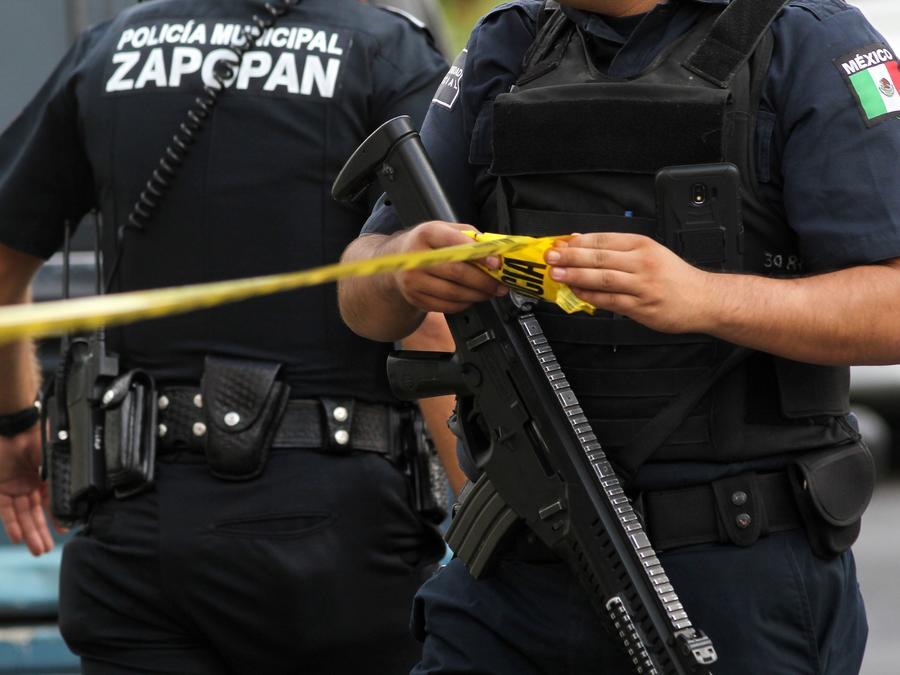 Fotografía de archivo de una escena del crimen en Guadalajara