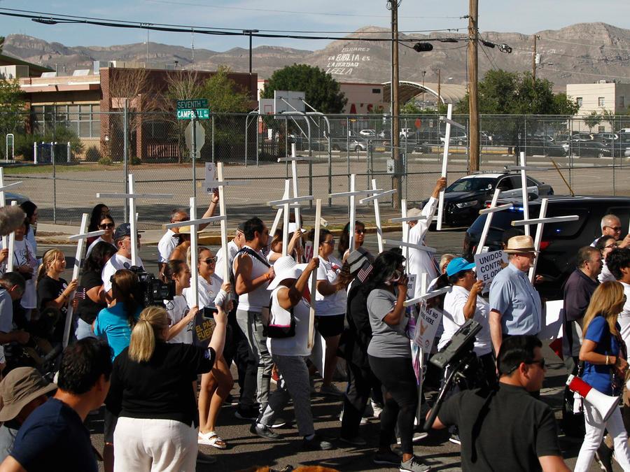 Protestas en El Paso hoy contra la violencia racista