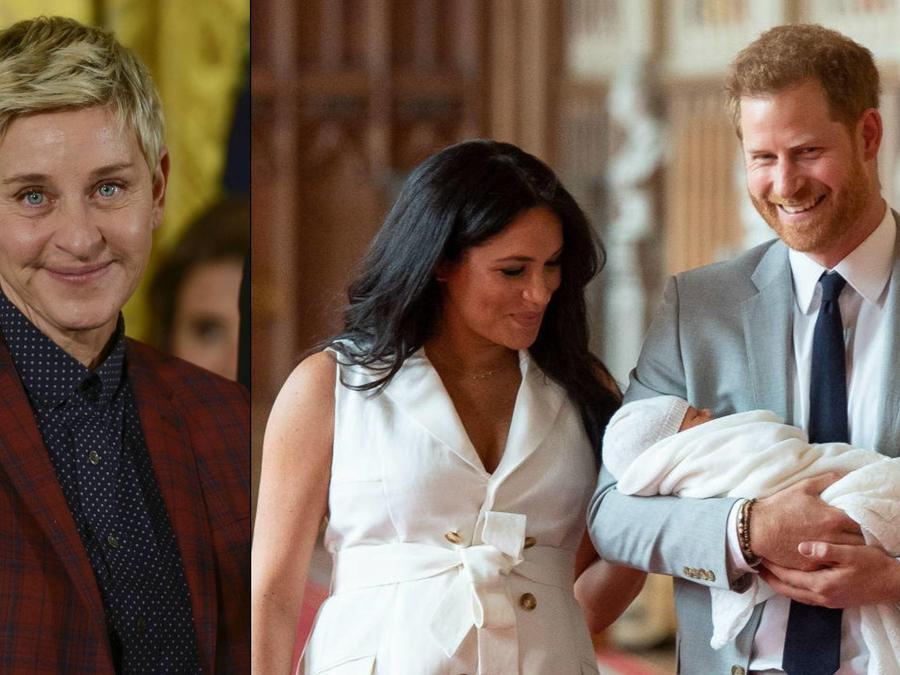 Ellen DeGeneres; Duques de Sussex con su hijo Archie Harrison