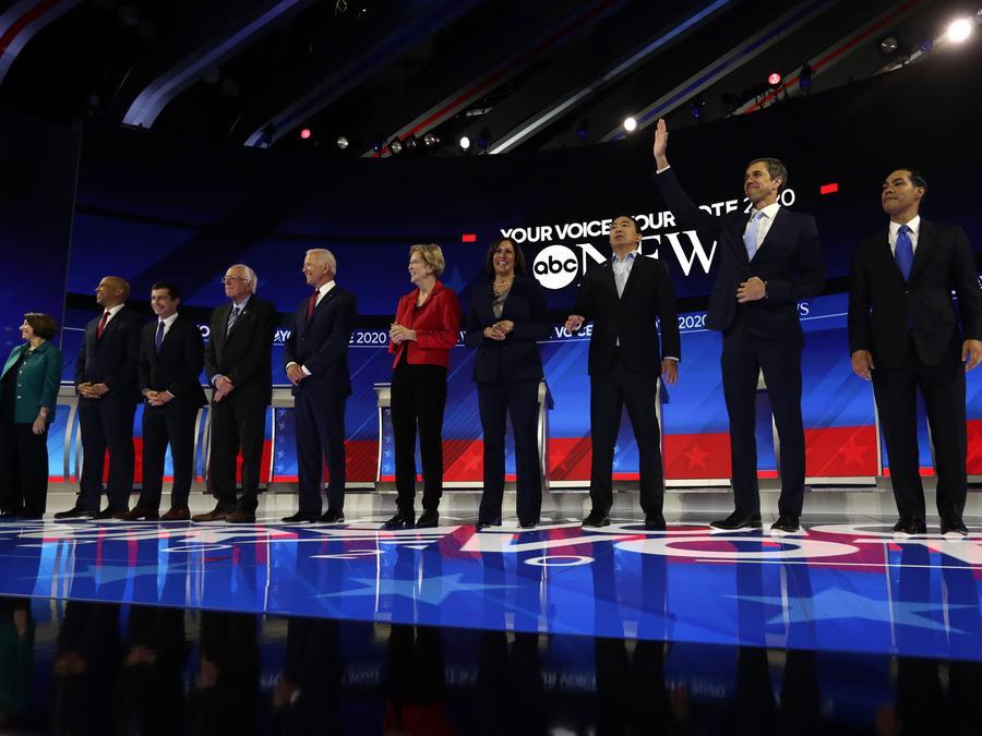 Participantes del tercer debate demócrata