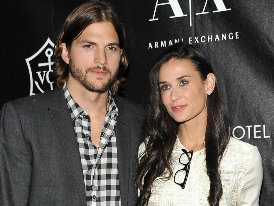 Ashton Kutcher y Demi Moore en 2011