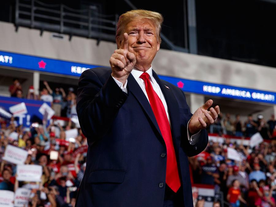 Trump, durante un mitin de campaña en Rio Rancho, Nuevo México, el 16 de septiembre de 2019.