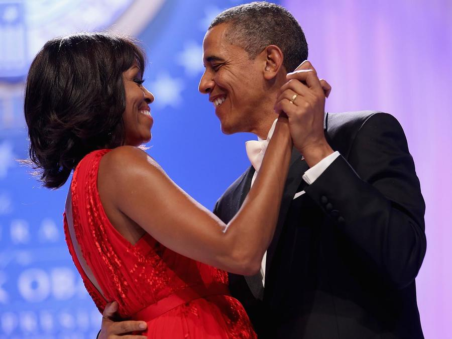 Barack Obama y Michelle Obama en un baile del 2013