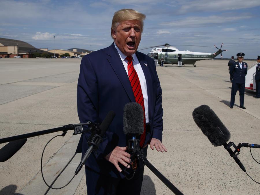 Imagen del presidente, Donald Trump, el 26 de septiembre de 2019.