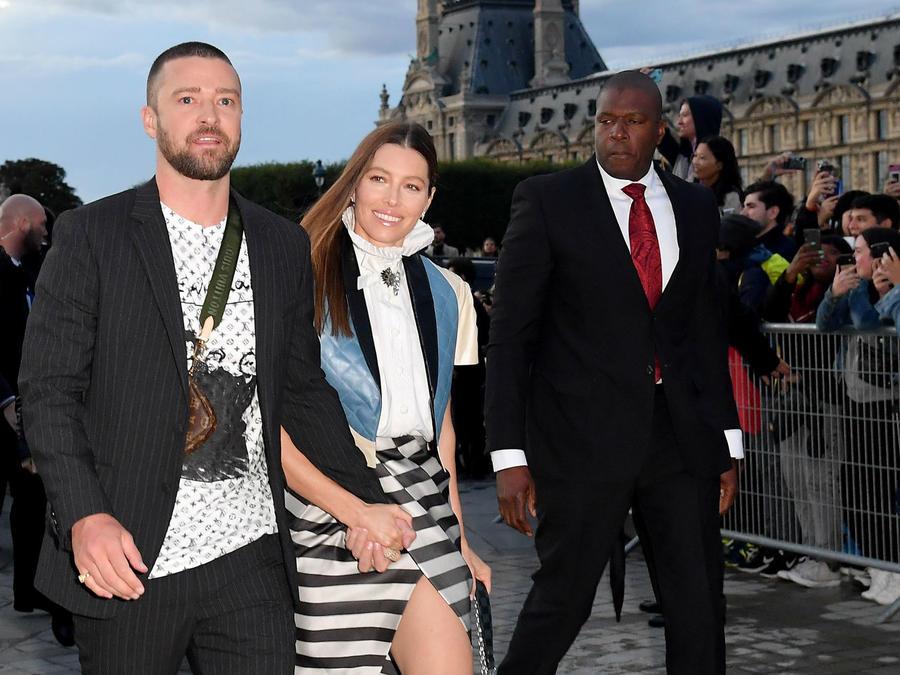 Justin Timberlake y Jessica Biel en la Paris Fashion Week 2019