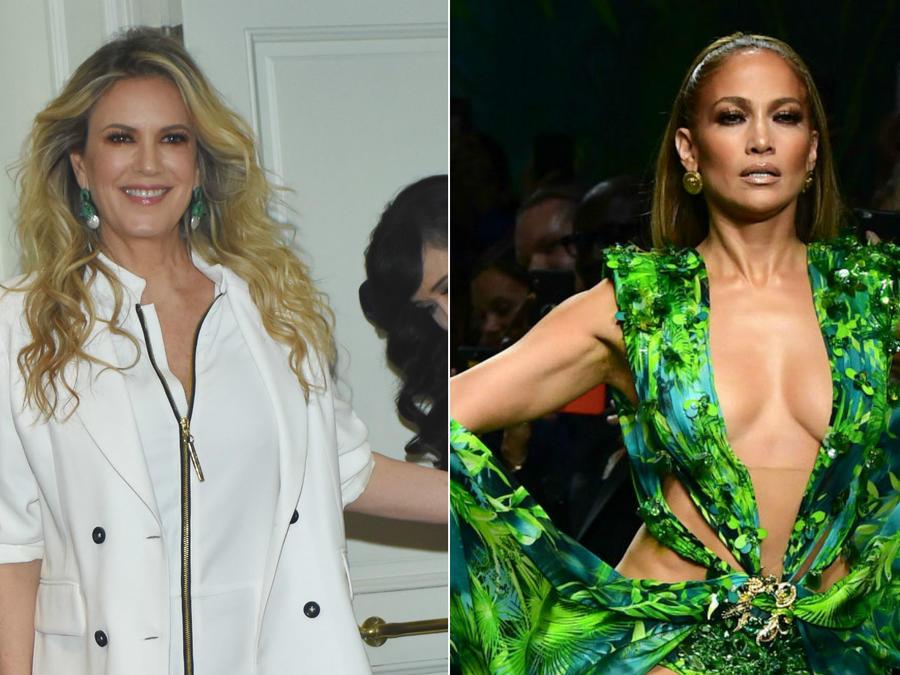 Rebecca de Alba; Jennifer Lopez con su vestido Versace, 2019
